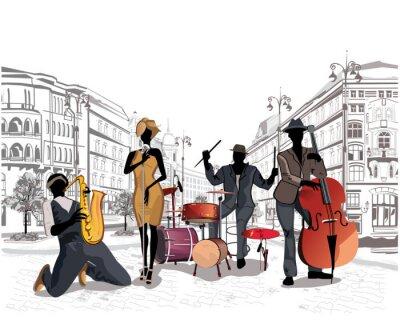 Seria z muzykami ulic w starej części miasta.