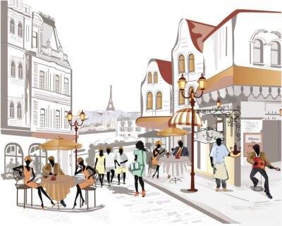 Fototapeta Seria z widokiem na ulicę w starym mieście
