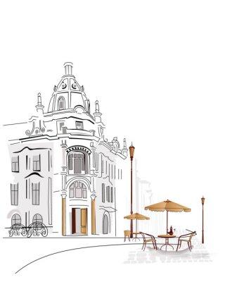 Sery z ulicy kawiarni