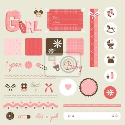 set dziecko notatnik - girl