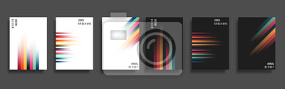 Fototapeta Set of backgrounds with gradient color lines