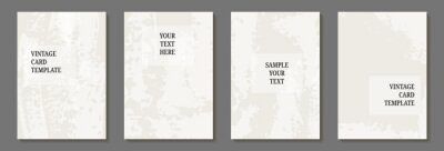 set of card template with textured paint brush stroke. Design for background, postcard, poster or brochure