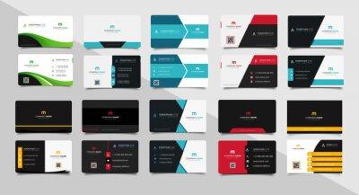Fototapeta Set of corporate business card bundle.