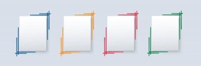 Fototapeta set of modern square isolated color frame template background vector illustration EPS10