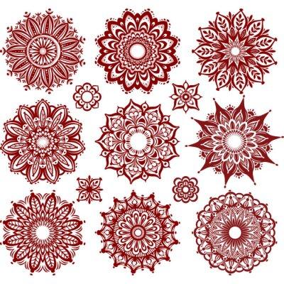 Fototapeta Set of Round Ornament Patterns