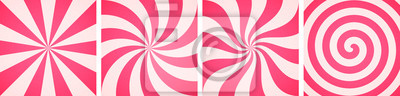 Fototapeta Set of sweet candy abstract backgrounds