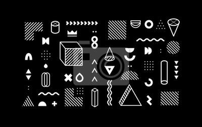 Set of vector geometric shapes. Trendy graphic elements for your unique design.