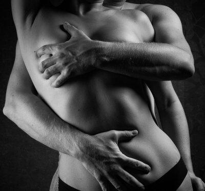 Fototapeta Sexy człowieka i ciała kobiet.