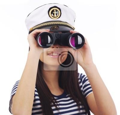 Fototapeta Sexy Kobieta kapitan
