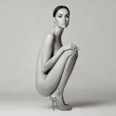 Fototapeta sexy naga kobieta w butach