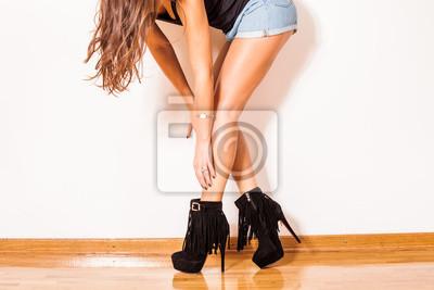 Fototapeta sexy w wysokich butach pięty