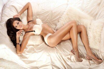 Fototapeta Sexy woman in lingerie.