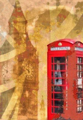 Fototapeta Shabby chic London Collage