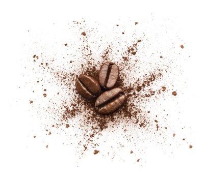Fototapeta Shattered proszku kawy samodzielnie na białym tle