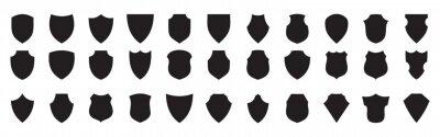 Fototapeta Shield Icons Mega Collection Protect shield set Set of shields Protection. Different shields