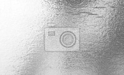Fototapeta Shiny leaf silver foil paper