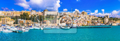 Fototapeta Sicily - beautiful coastal town Sciacca in south of island. Italy