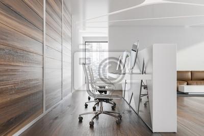 Fototapeta Side view of reception in lounge