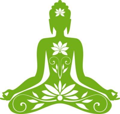 Fototapeta Siedząc Buddę