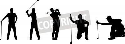 Fototapeta Silhouettes of a golfer