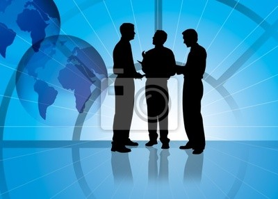 Fototapeta silhoutte spotkanie biznesowe