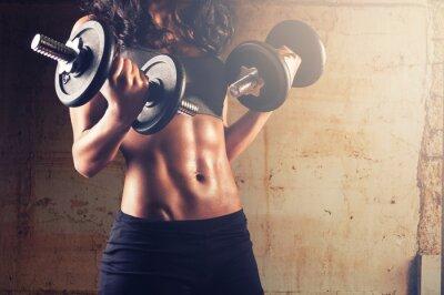 Fototapeta Silne ciało kobieta trening