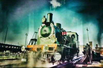 Fototapeta Silnik parowy pociąg historyczny