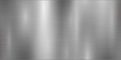Fototapeta Silver background and foil texture, shiny and metal steel gradient template. Brushed stainless steel pattern – for stock