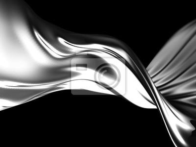 Fototapeta Silver liquid abstract shiny splash
