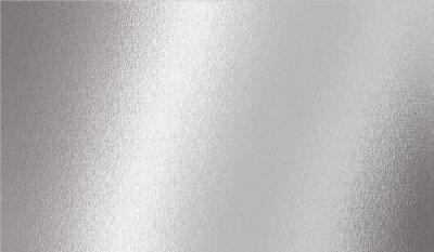 Fototapeta Silver metallic effect foil. Silver texture. Gradient background. Metal surface print. Glitter backdrop. Silver plate. Shine design invitation, wedding greeting, cards, prints. Vector illustration
