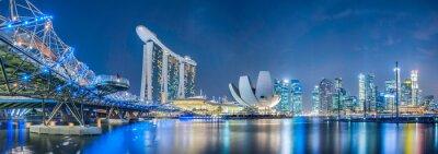 Fototapeta Singapur w nocy miasto