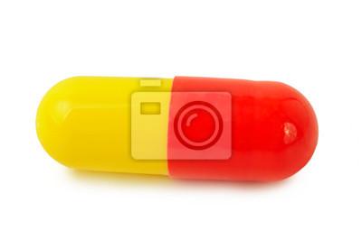 Single Red - żółte tabletki medycznych