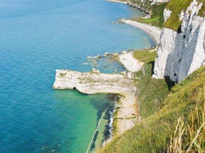 Fototapeta skaliste wybrzeża kanału La Manche