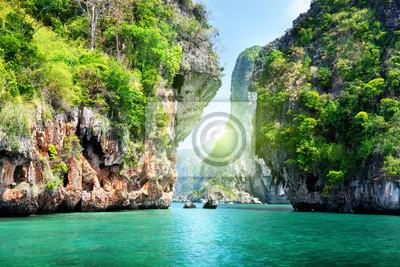 skały i morze w Krabi Thsiland
