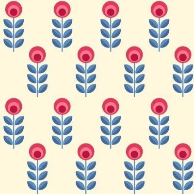 Fototapeta Skandynawskie kwiaty