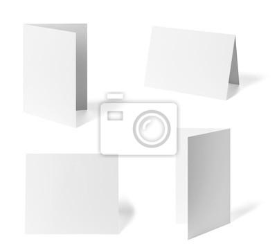 Fototapeta składany ulotki biały papier blank szablon książki pulpitu kalendarza