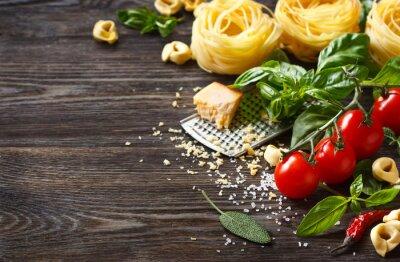 Fototapeta Składniki żywności włoski.