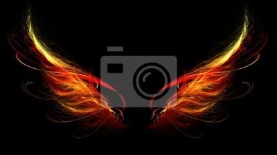Fototapeta skrzydła piekło