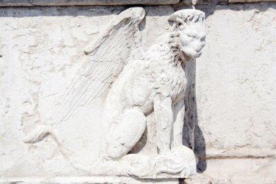 Fototapeta skrzydlaty lew