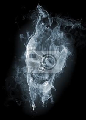 Fototapeta Skull - smoke