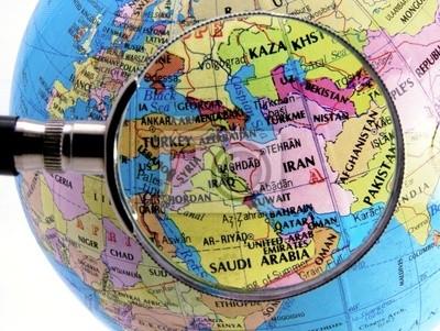 Fototapeta skupić się na Bliskim Wschodzie