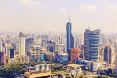 Fototapeta Skyline i budynki nowoczesne miasta, Szanghaj.