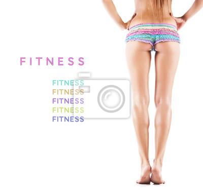 Slim opalony ciało kobiety