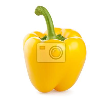 słodka żółta papryka na białym tle