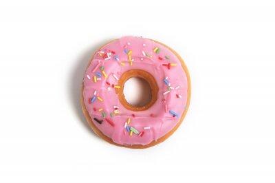 Fototapeta słodkie pyszne pączki z uzależnieniem pokusa polewy cukrowej
