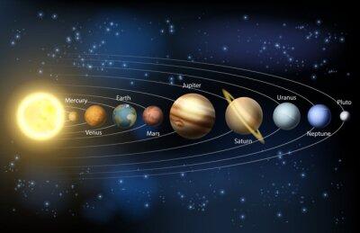 Fototapeta Słońce i planety układu słonecznego