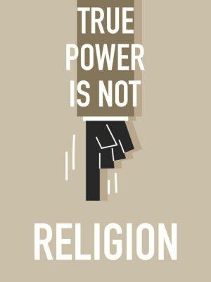 Fototapeta Słowa TruePower nie religia