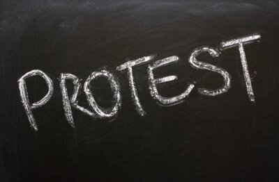 Fototapeta Słowo Protest na tablicy