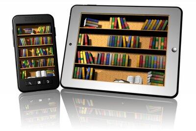 Fototapeta Smartphone_Tablet_Libreria