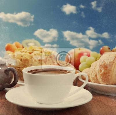 Śniadanie z kawy, tekstury zabytkowe papieru